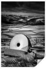 Stanage Edge Millstones #4, Print