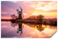 Turf Fen Windmill, Print