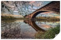 Grosvenor Bridge Chester, Print