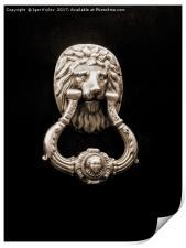 Door knocker, Print