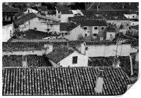 Tile roof of old town, Print