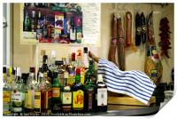 Spanish bar, Print