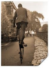 Penny Farthing (sepia), Print