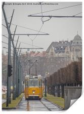 Budapest Tram., Print