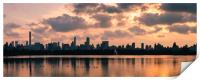 Pink Sunset Over Manhattan, Print