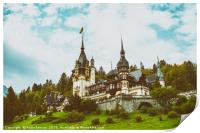 Neo-Renaissance Peles Castle Built In 1873 In Carp, Print