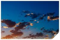 Beautiful Blue And Orange Tranquil Summer Sunset B, Print