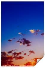 Beautiful Blue And Orange Tranquil Summer Sunset B, Print