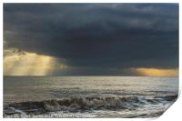 Clouds and Rays over the Bristol Channel, Print