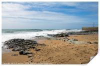 Porthleven Beach and Breakwater Cornwall, Print