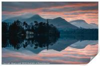 Derwent Water Sunset, Print