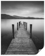 Ashness Jetty, derwent water, Print