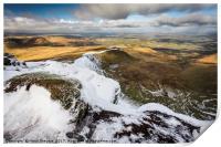 A Snowy Brecon Beacons, Print