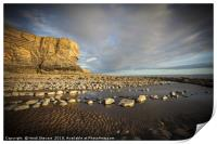 The cliffs and beach at Nash Point, Print