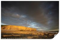 Evening light at Nash Point , Print