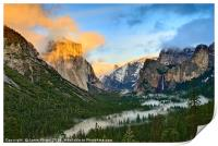 Dramatic View of Yosemite National Park Vista, Print