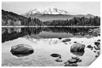 A dramatic view of Mount Shasta from Lake Siskiyou, Print