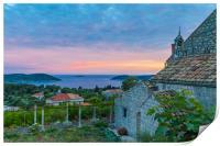 Dusk on the Croatian  coast, Print
