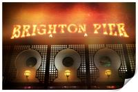 BRIGHTON LIGHTS, Print