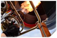 Hot Air Balloon, Burners Lit, Print