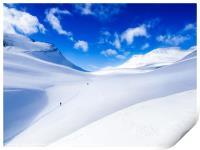 Rondane ski touring. Norway, Print