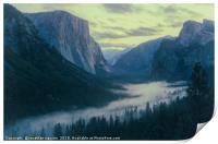 Yosemite Tunel View, Print