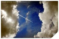 Jet trail, Print