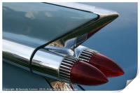 Classic Car Tail Light, Print