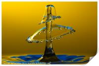 A double water drop collision, Print