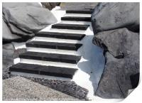 black stone steps, Print
