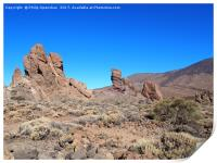 rock formations in teide national park, Print