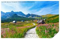 Gasienicowa Valley in Tatry mountains, Poland, Print