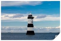 Penmon Lighthouse, Anglesey., Print