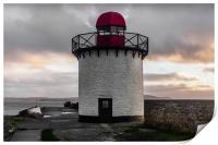 The Lighthouse at Burry Port, Carmarthenshire., Print