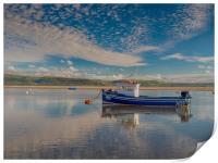 Reflections on the Dyfi Estuary at Aberdovey., Print