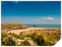 Broadhaven Beach, Pembrokeshire., Print