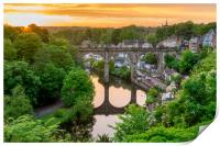 Knaresborough Viaduct sunset, Print