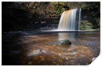 Sgwd Gwladus – the Lady Falls in South Wales., Print