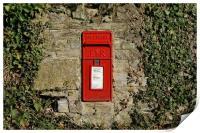 Village post box                               , Print