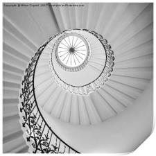 The Tulip Spiral Stairs - B&W, Print