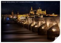 Cordoba, Roman Bridge., Print
