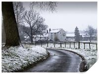Water Mill after the Snowfall, Print