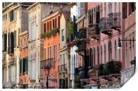 The elegant and refined architecture of Venice, Print