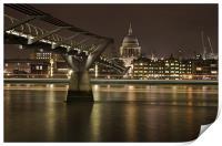 Millenium Bridge & St pauls Cathedral, Print
