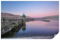 Elan Valley Craig Goch in Pink,, Print