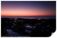 Afterglow at Westward Ho!, Print