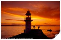 Sunset Brixham Breakwater, Print
