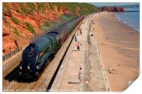 The 'Torbay Express' at Dawlish, Print