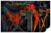 Fishing Gear, Brixham    , Print