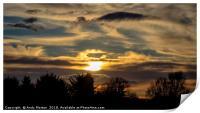 The Sun Setting, Print